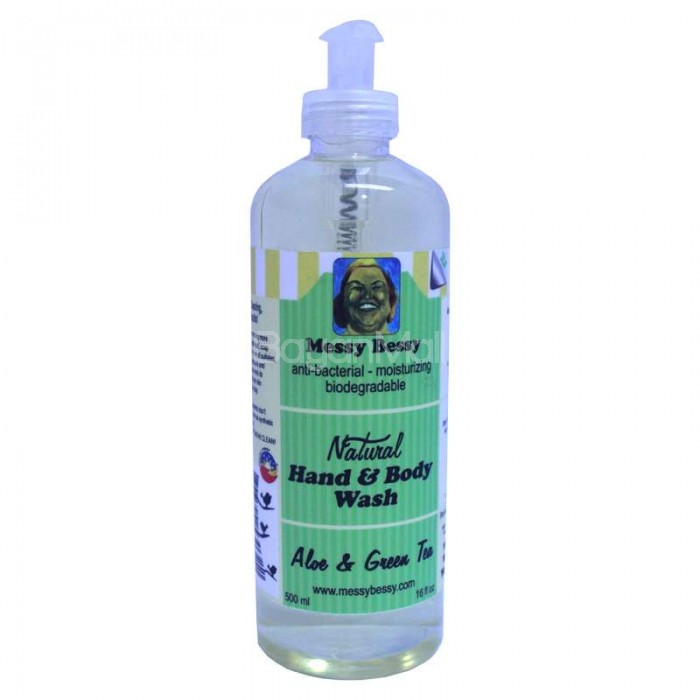 Bibliorganics Messy Bessy Hand And Body Wash Aloe Amp Green