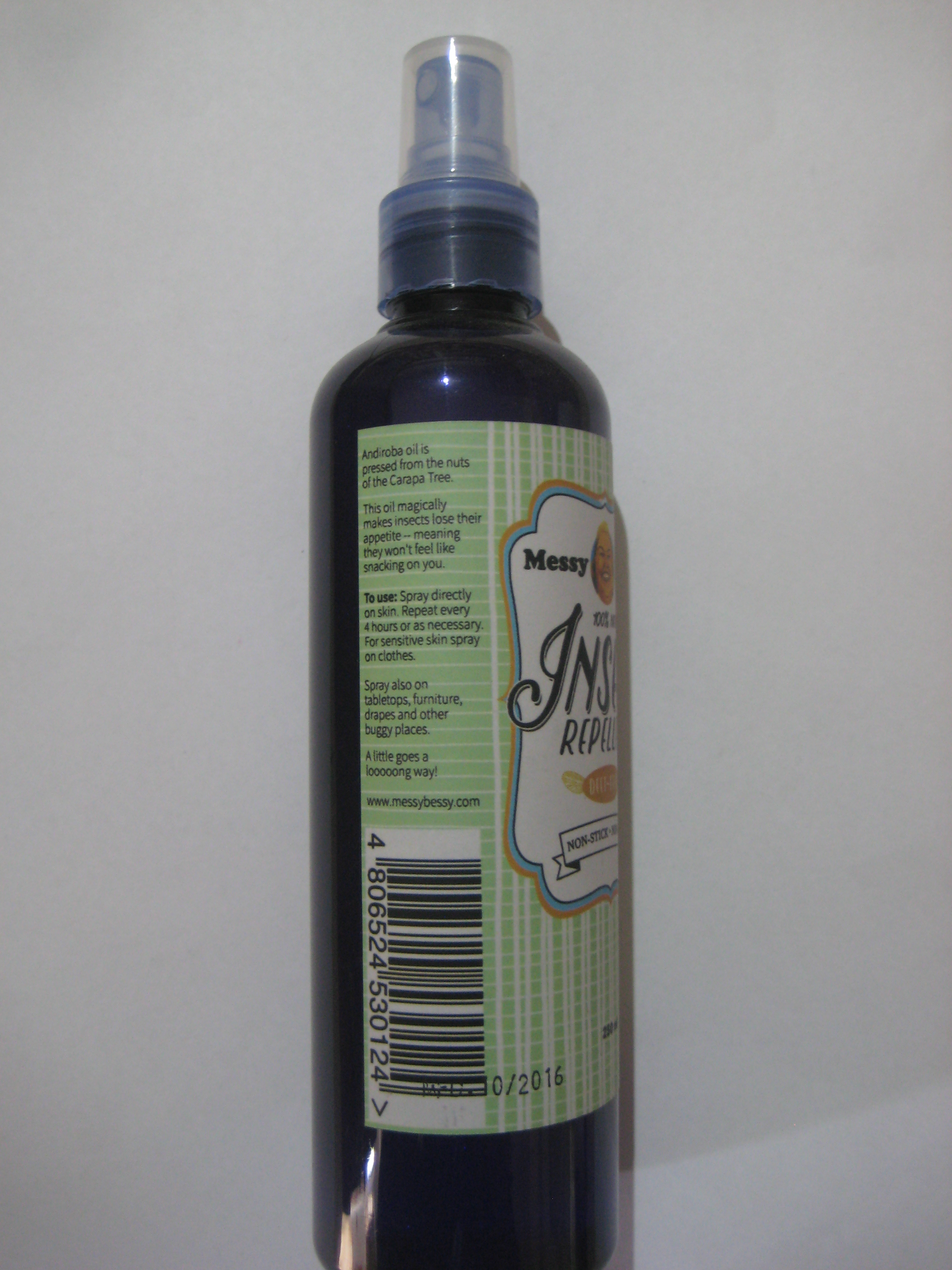 Messy Bessy Insect Repellent 250 Ml Bibliorganics All
