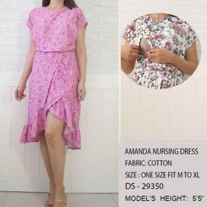 Amanda Nursing Dress-Pink Floral